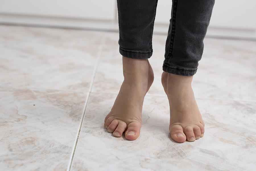 Toe walking child